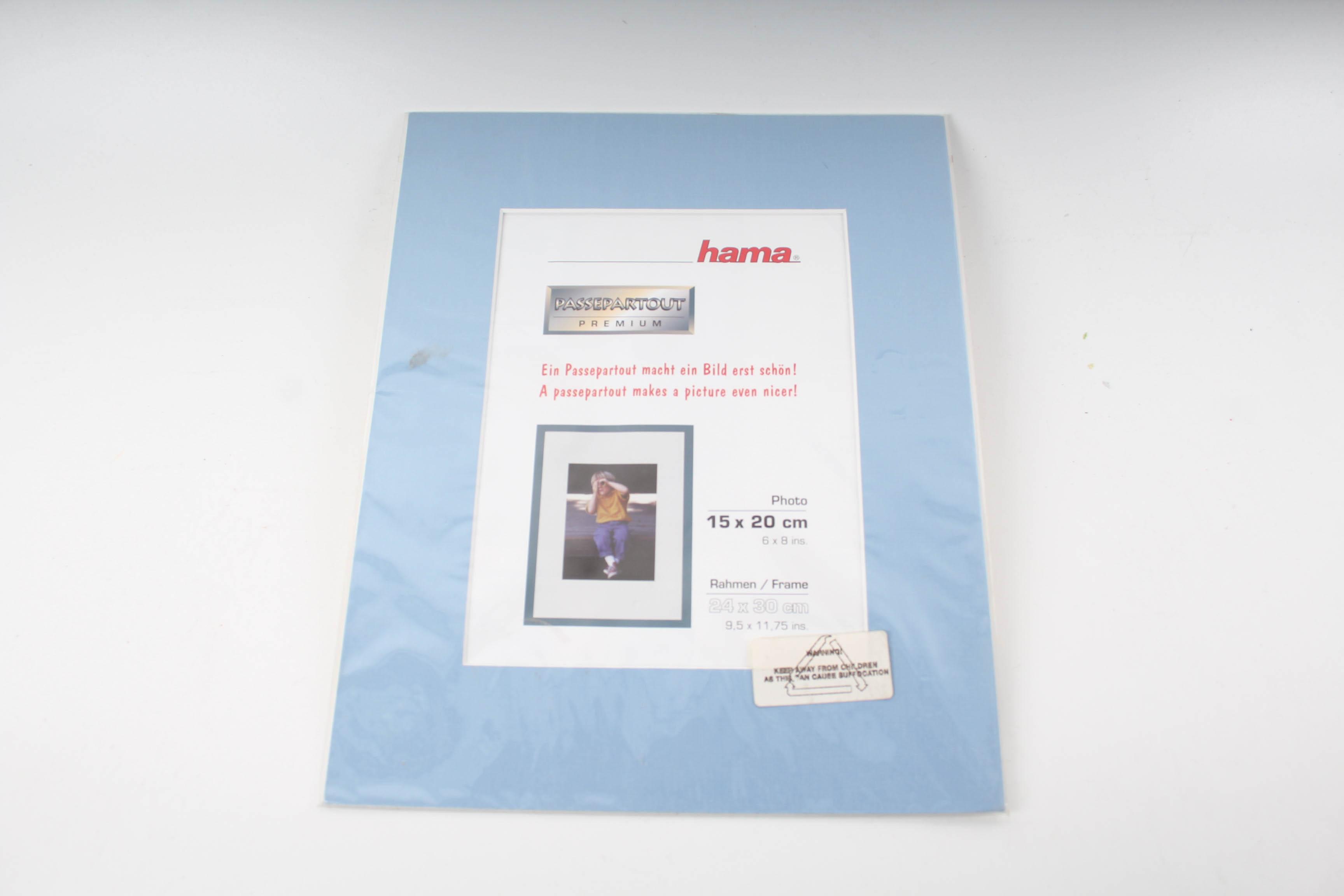 Hama Passepartout 15 x 20 cm Rahmen 25 x 30 cm Hellblau | eBay