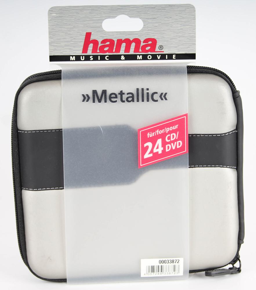Hama CD Tasche Metallic 24 silber/schwarz | eBay
