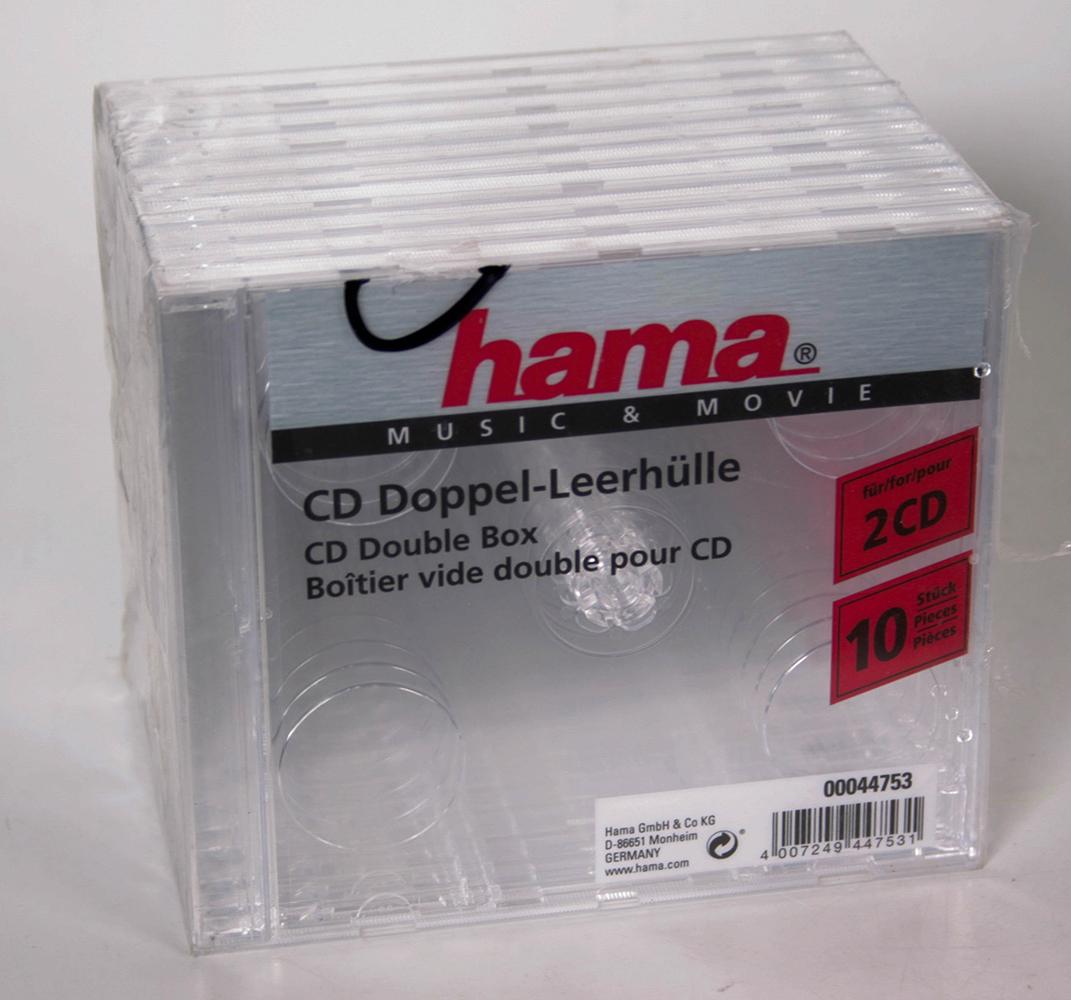 Hama CD Double Jewel Case Behälter CD-Aufbewahrung Transparent ...