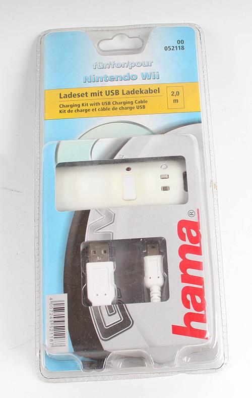 hama charging kit for wiimote batterie f r wireless g ebay. Black Bedroom Furniture Sets. Home Design Ideas