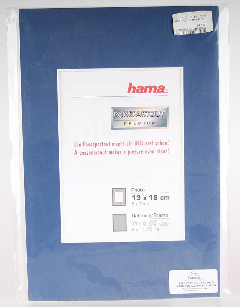 Hama Bilderrahmen Fotorahmen Passepartout, Marineblau, 20 x 30 cm | eBay