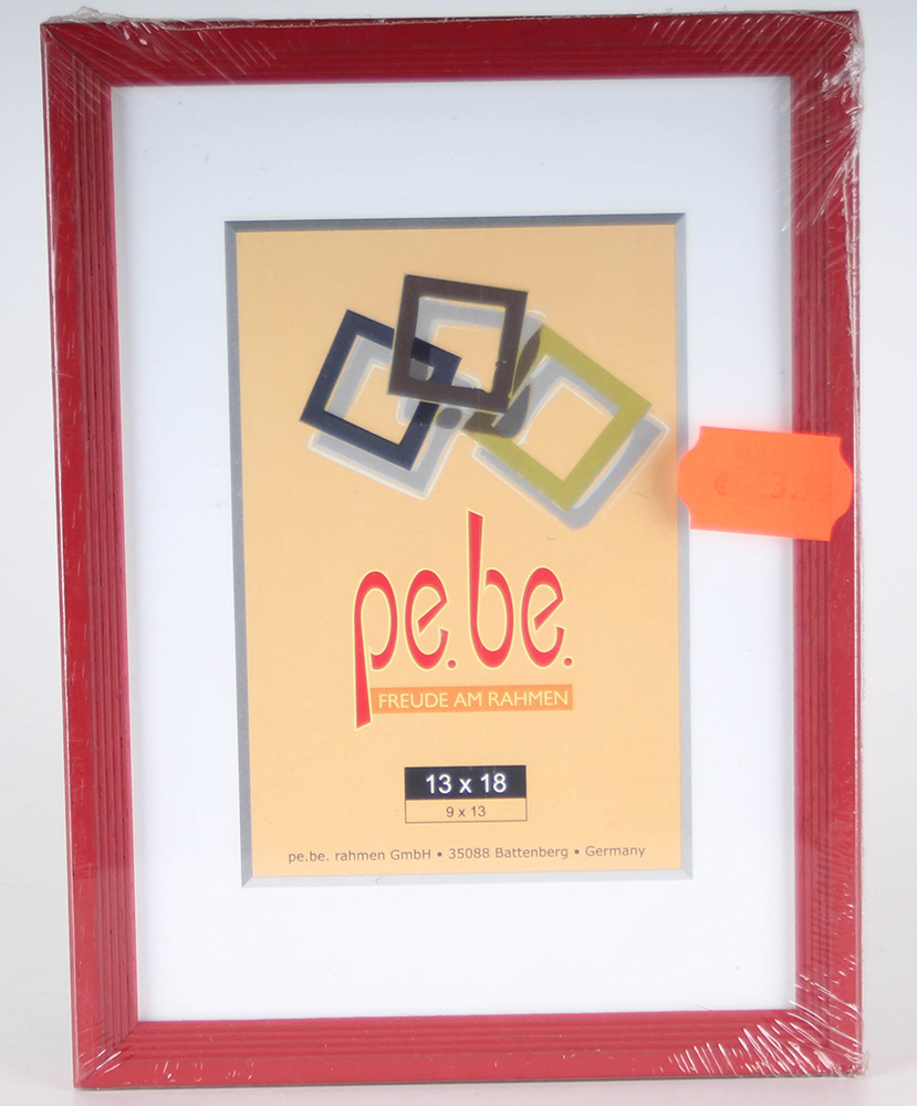 Wooden Picture Frame 13 x 18 cm Red Frame auschnitt 9 x 13 cm ...