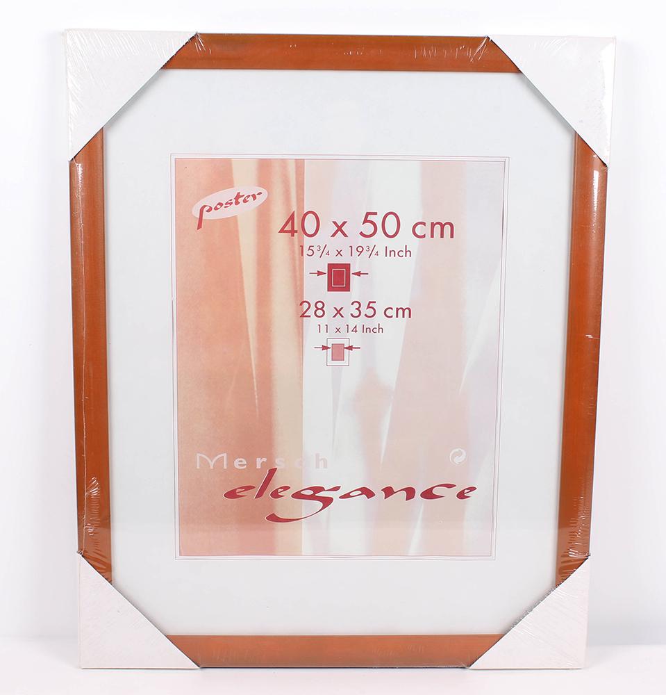 2 x Mersch Holz Bilderrahmen 40 x 50 cm Helbraun Rahmen Ausschnitt ...