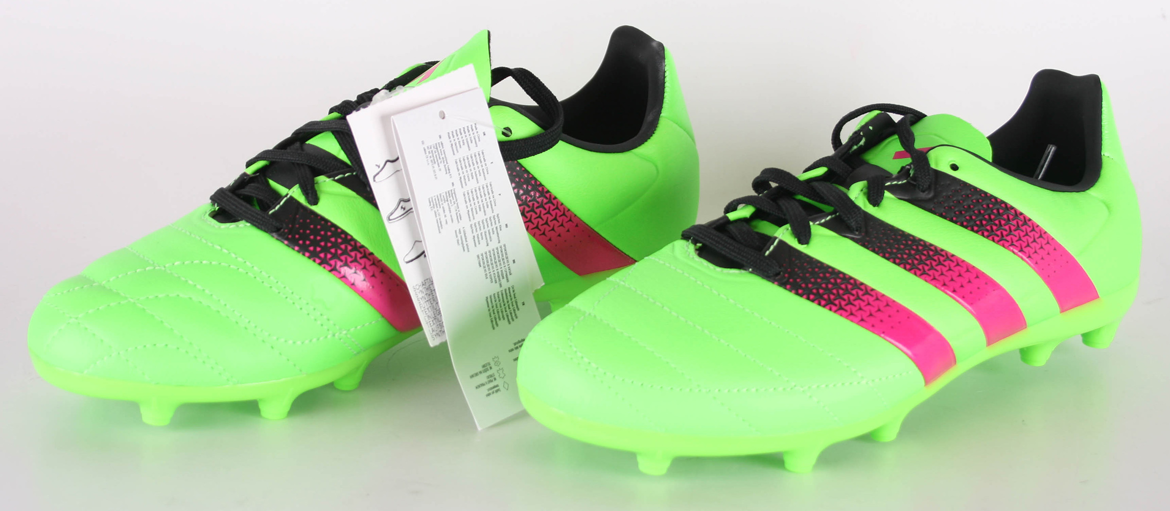 Details about Adidas Ace 16.3 FgAg J Leather Football Shoes Eu 36 Verde Versol Rosimp Negbas