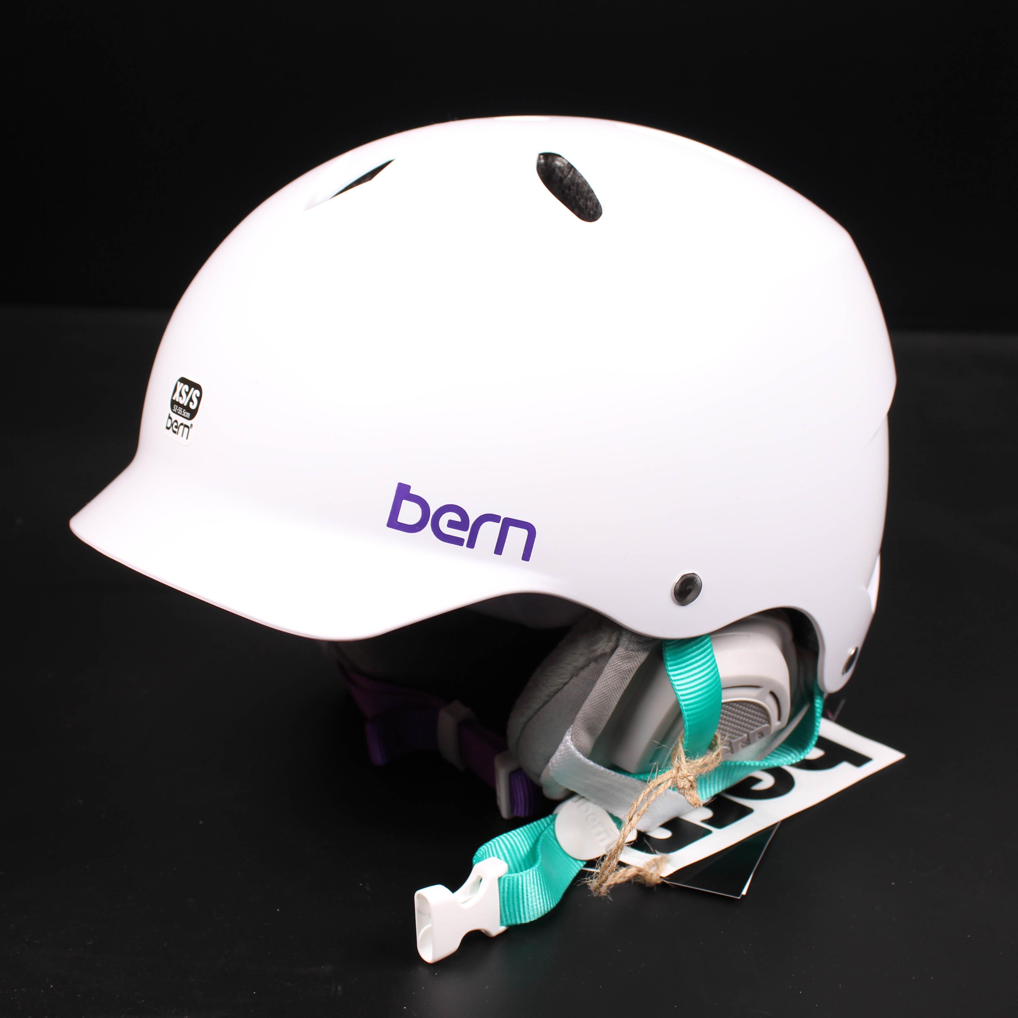 Bern Helm Lenox dünne Schale Winter Einsatz XS/S 52-55,5 Skihelm ...